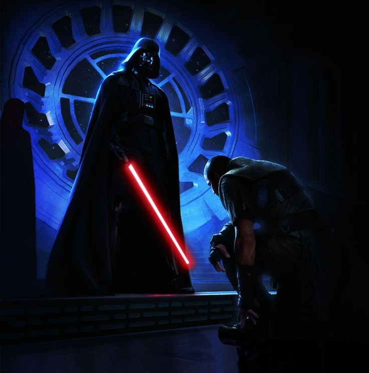 yes, my master.  vader and secret apprentice Galen Marek (starkiller)