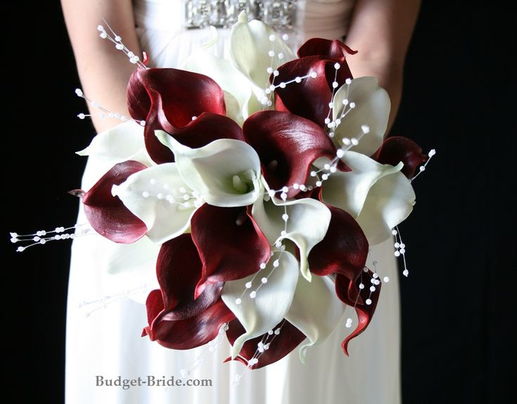 Red Calla Lily Wedding Flower Package