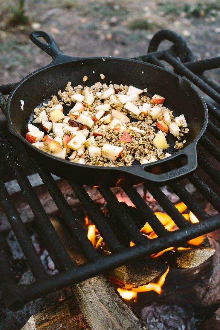 Campfire Apple Crisp Breakfast by Faring Well #vegan #recipe
