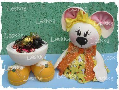 Leskka - Arte em e.v.a  coelhinha, páscoa, bunny, easter,