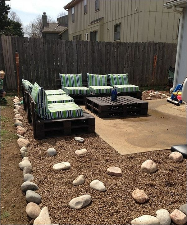 Best Pallet Patio Furniture Images On Pinterest Terraces
