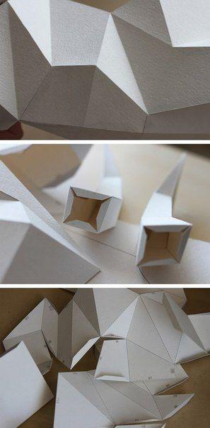 Трофейные головы животных из бумаги для украшения интерьера. Автор: Наталья Бублик.... фото #6