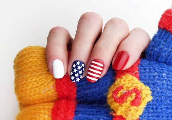 Stars and Stripes Nail Stencils Set incredible nail art by Unail