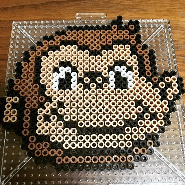 Curious George perler beads by anosero