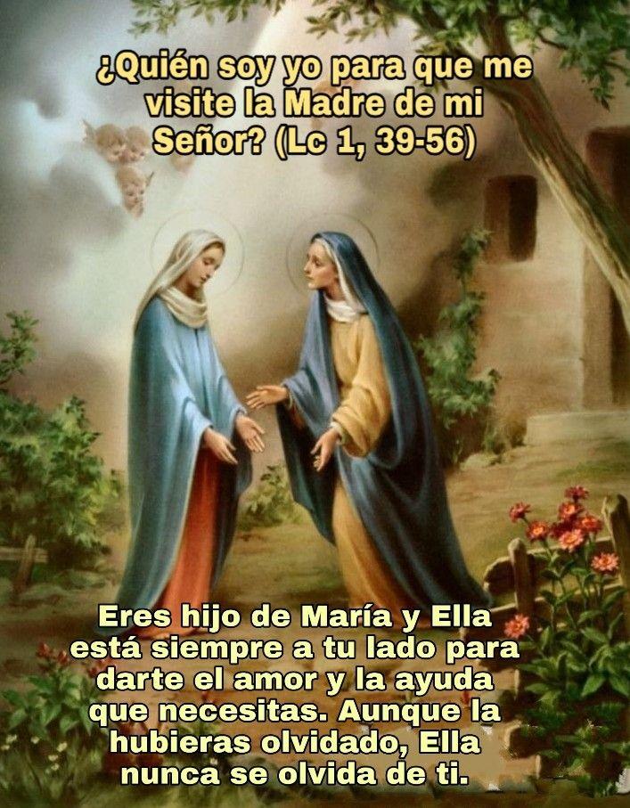 Visitación De María A Isabel Regalos De Dios Santísima Virgen María Versículos De La Biblia