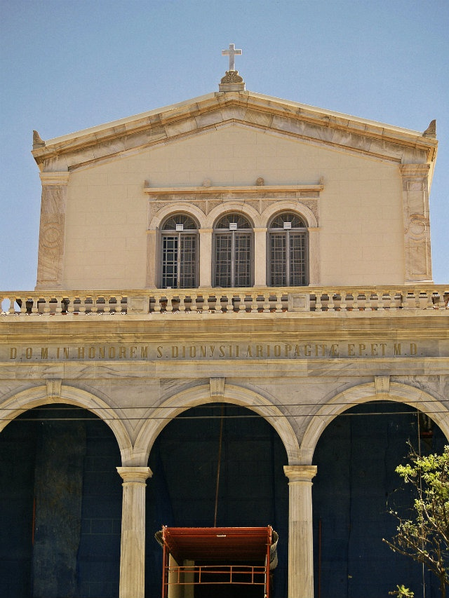 The catholic church of Agios Dionysios. (Walking Athens, Route 01 - University Str.)