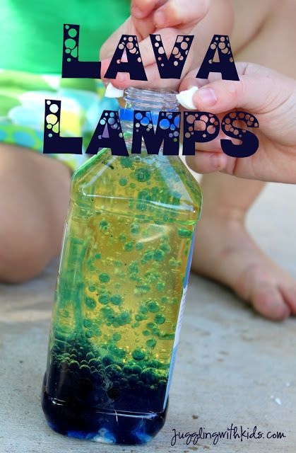 Remember back in the day when lava lamps were popular? Well here's how you can re-create that fun for the kids in a water bottle. Supplies: Water Bottle Food Coloring Vegetable Oil Water Alka…