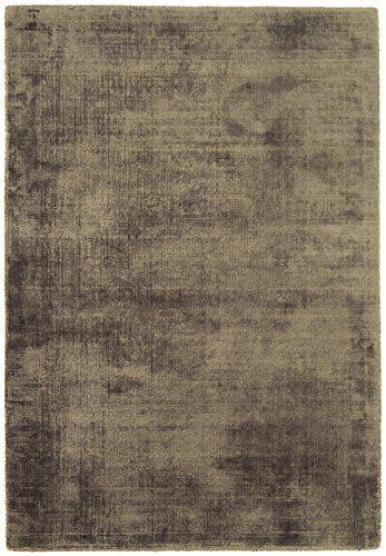 Teppich Wohnzimmer Carpet Hochflor Design BLAD SHAGGY UNI RUG 100 Viskose 240x340 Cm Rechteckig Grau