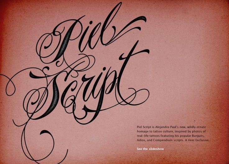43 best script tattoo fonts images on Pinterest | Tattoo ...