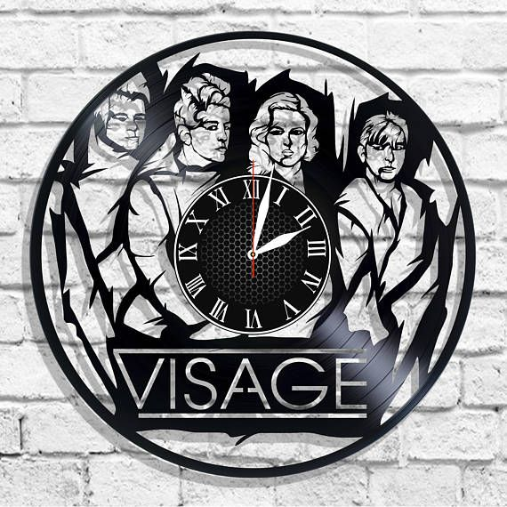 Visage band design wall clock Visage wall poster