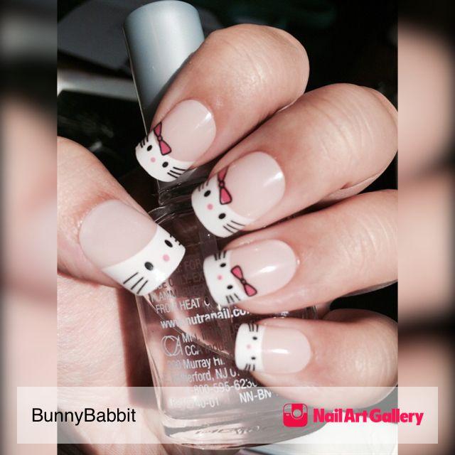 Hello Kitty Nails by BunnyBabbit via Nail Art Gallery #nailartgallery #nailart #nails #acrylic #hellokitty #frenchtip #frenchacrylic