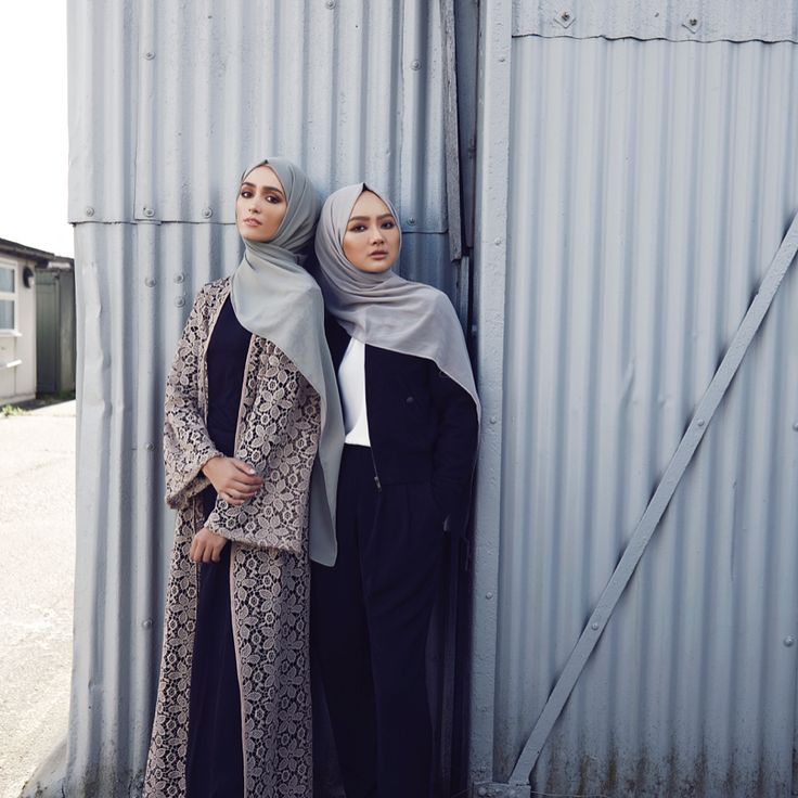INAYAH | Relaxed cuts and effortless style. Swipe left for a closer look!  Warm Sand Floral Lace Kimono  Black High Neck Top  Black Pleat Front Palazzos  Vintage Khaki Soft Crepe Hijab  -  Black Suede Bomber Jacket  White Crepe Top  Black Soft Touch Trousers    Dove Soft Crepe Hijab  www.inayah.co
