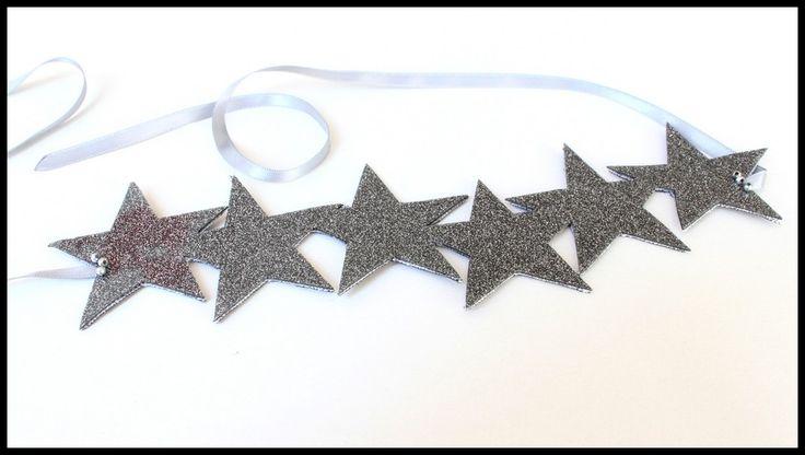 """Bandeau """"Star"""" gris pailleté"""