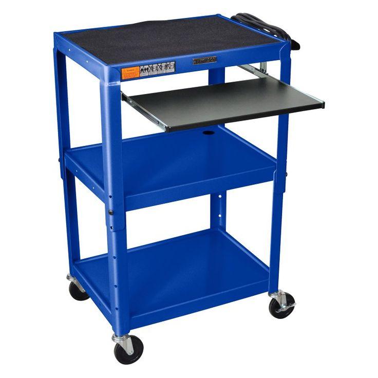 Turing Adjustable Height Computer Cart Royal Blue - AVJ42KB-RB