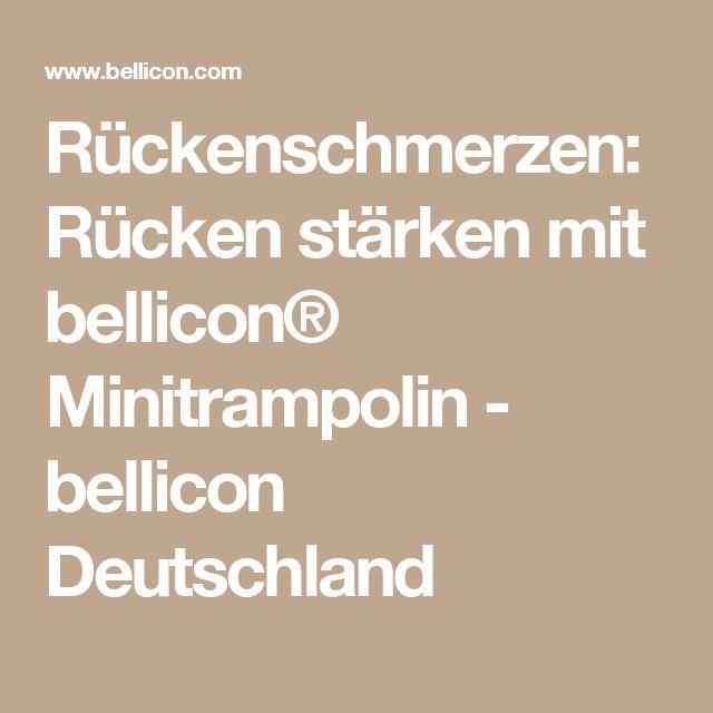 Rückenschmerzen: Rücken stärken mit bellicon® Minitrampolin - bellicon Deutschland