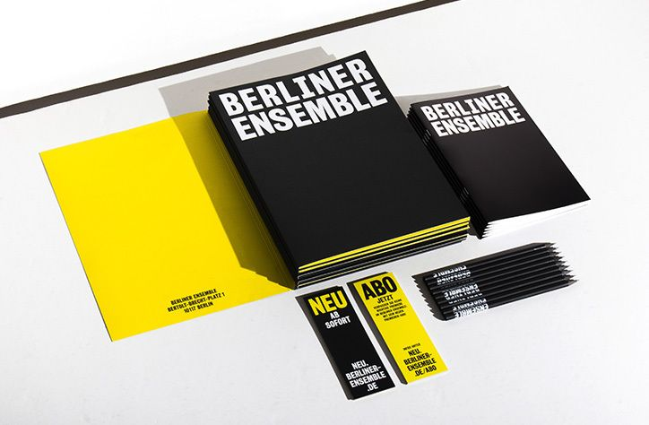 Double Standards has created a typography-led identity for the theatre company Berliner Ensemble inspired by the playwright Bertolt Brecht. The German radical, who performed at the theatre in 1954, shocked the arts scene when he emerged in the 1930s by depicting the everyday life of working class people on stage and by using theatre to discuss larger societal issues rather than individual tragedy. Berlin studio Double Standards aimed to echo Brecht's bold approach by referencing the visua...