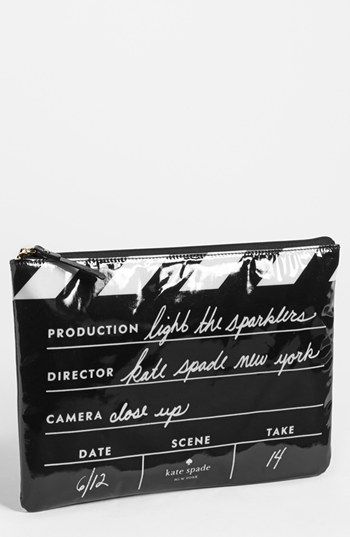 love!! kate spade new york 'cinema city - gia' pouch available at #Nordstrom