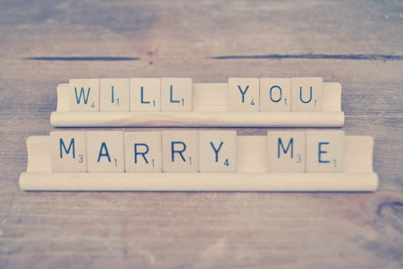 Will You Marry Me Sign // Proposal Sign // by Perfectionate, $14.00