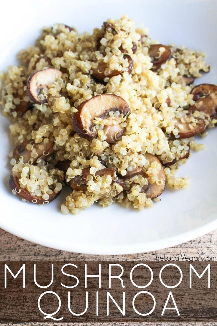 Mushroom Quinoa - The Local Vegan // www.thelocalvegan.com