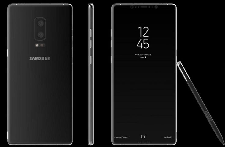 Galaxy Note 8 concept based on latest leaks, by Concept Creator
