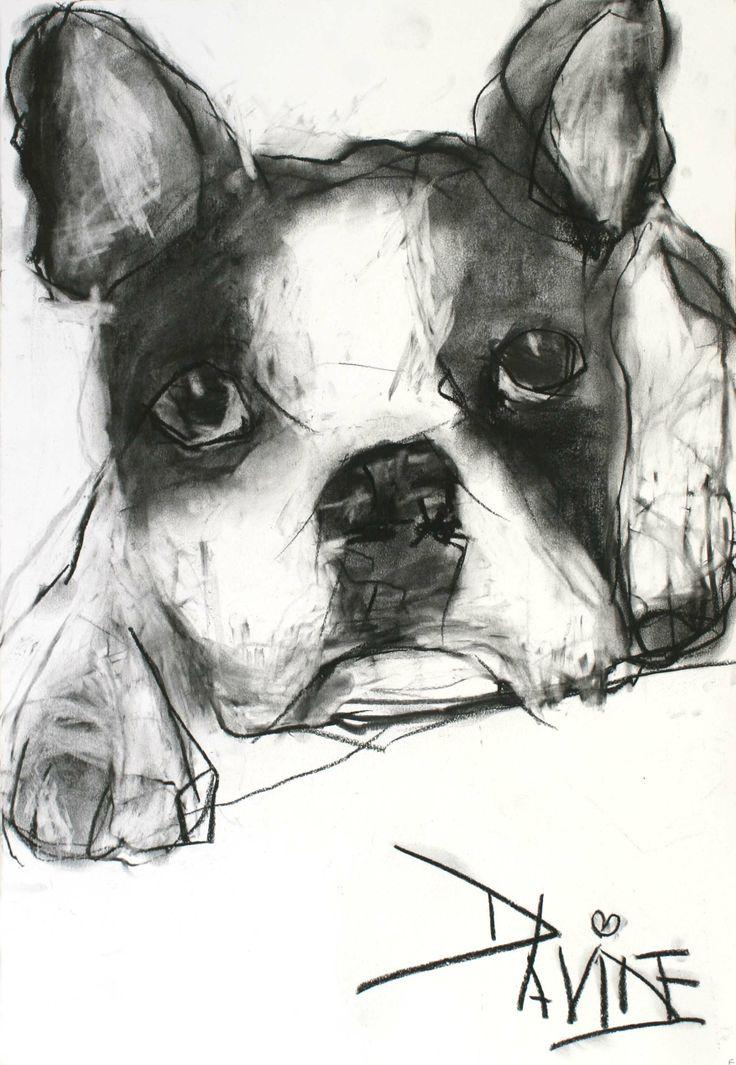 U0026#39;Milou0026#39; Original Charcoal By Valerie Davide - Framed U00a3410 | CrittersValerie Davide | Pinterest ...