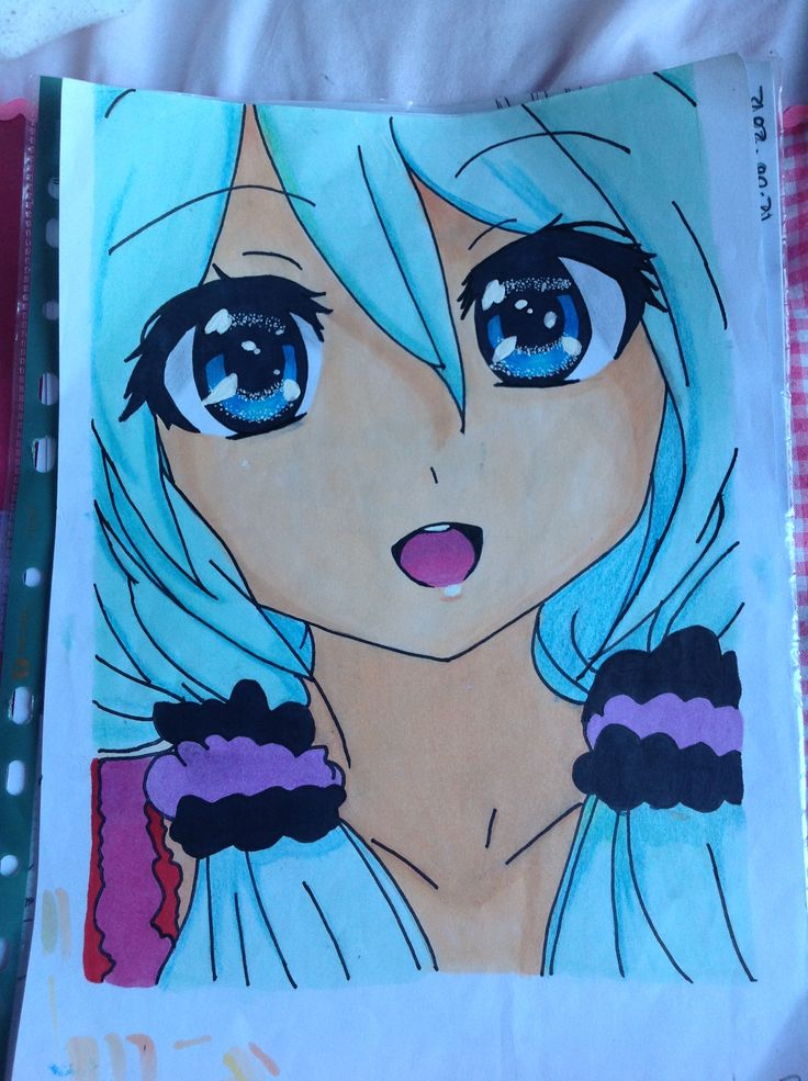 My First Finished Anime Drawing :) But It's Full Of