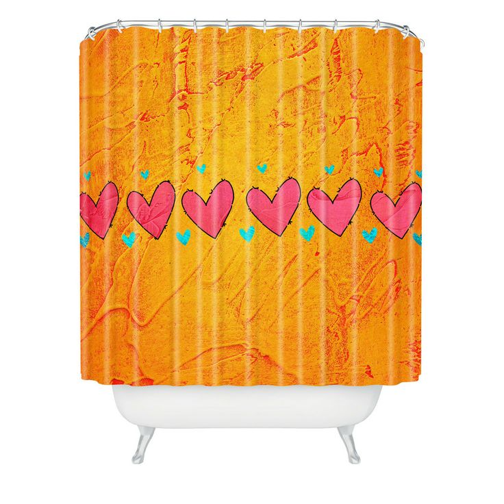 Isa Zapata Love Is In The Air Orange Shower Curtain | DENY Designs Home Accessories