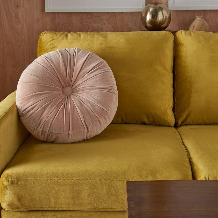 Wrought Studio Gaelle Cotton Round Throw Pillow Wayfair In 2020 Throw Pillows Velvet Throw Pillows Round Throw Pillows