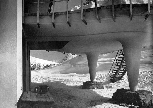 wmud:  carlo mollino - rifugio per sciatori, lago nero, sauze d'oulx, italia, 1947