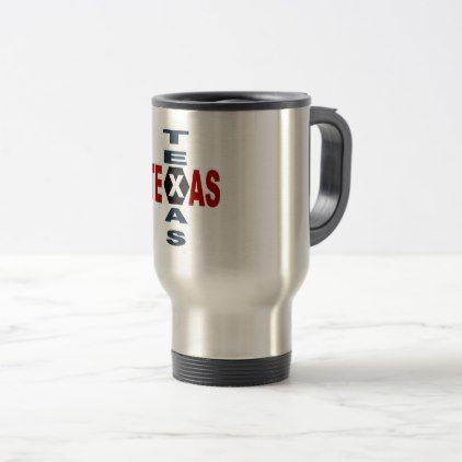 PACK FOR VOYAGE STAINLESS STEEL TEXAS DESIGN TRAVEL MUG - #customize create your own personalize diy