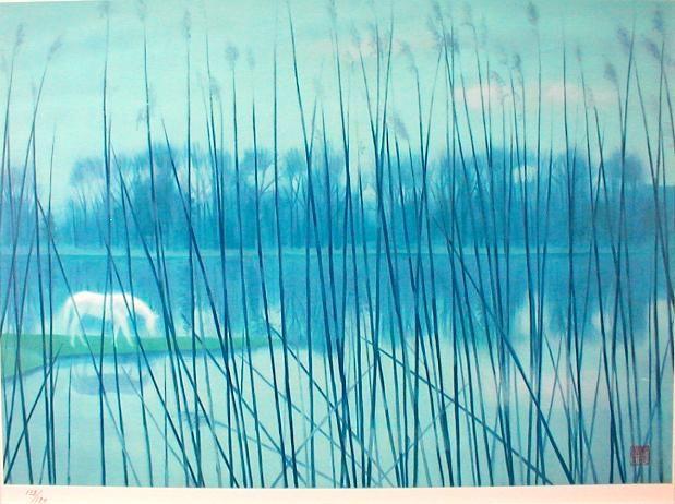 東山魁夷「水辺の朝」