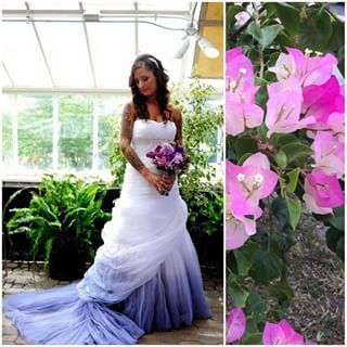 For just a touch of color, there's always the ombre trick. | 21 Brides Rocking Non-White Wedding Gowns