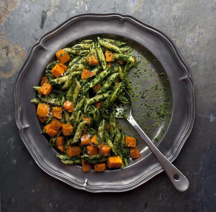 Kale Pesto and Roasted Butternut Squash | Recipe | Kale Pesto, Roasted ...