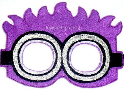 Purple Minion Felt Mask