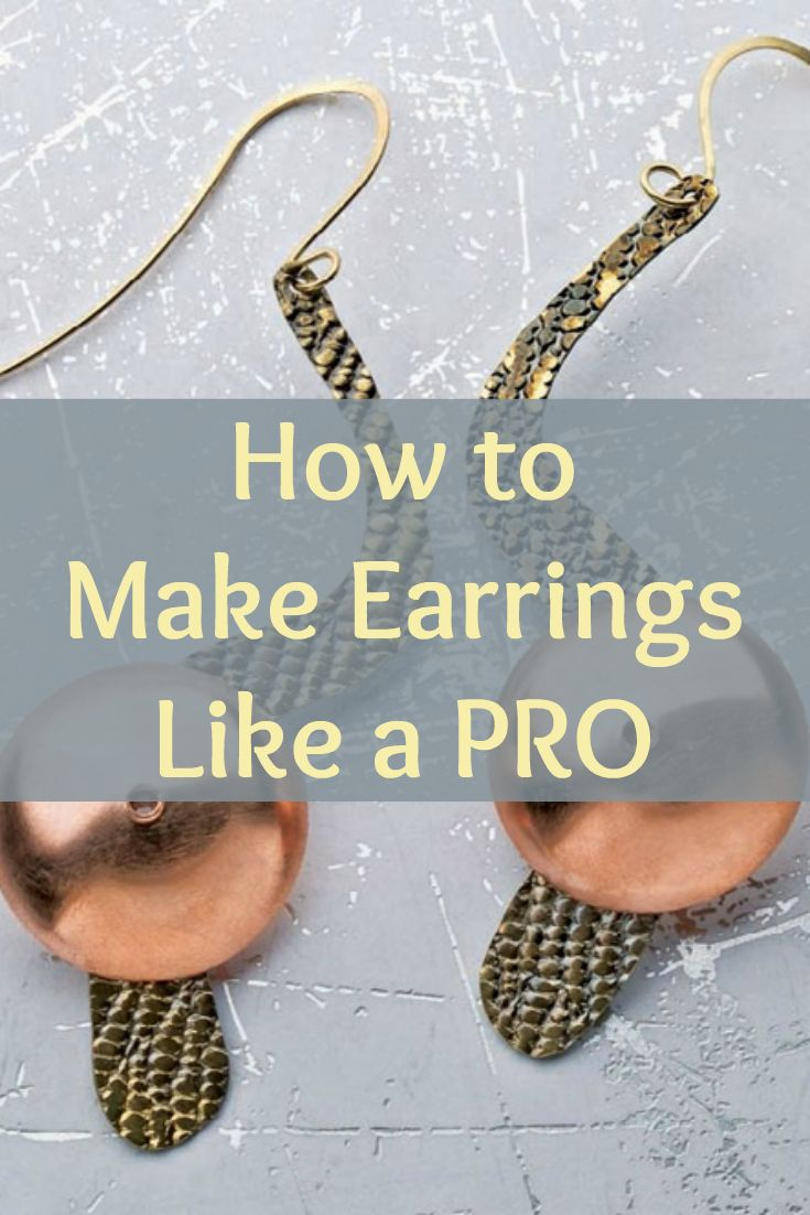 Learn how to make earrings at home like a pro with these FREE earring-making projects! #jewelrymaking #DIYearrings