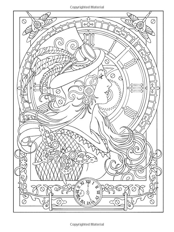 Beautiful Design Coloring Book 62 Amazon Creative Haven Steampunk