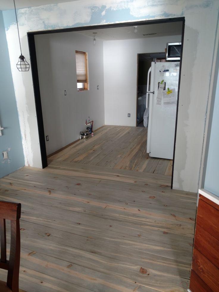 denim pine flooring - Geflschte Hartholzbden Ber Teppich