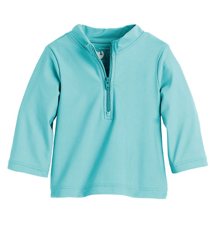 the baby rash guard - Only from Primary - Solid color kids clothes - No logos, slogans, or sequins - All under $25