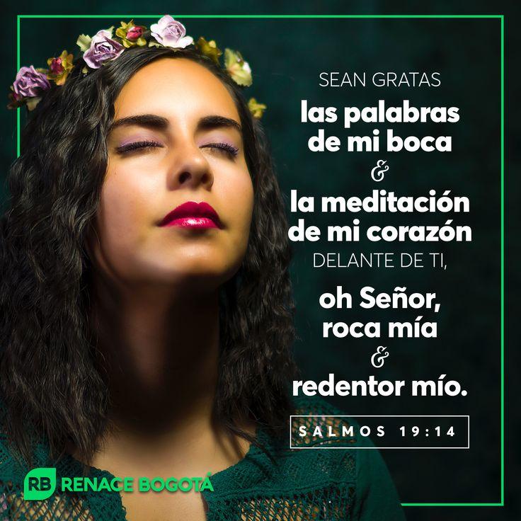 """""""Sean gratas las palabras de mi boca y la meditación de mi corazón delante de ti, oh SEÑOR, roca mía y redentor mío."""" Salmos 19:14 LBLA"""