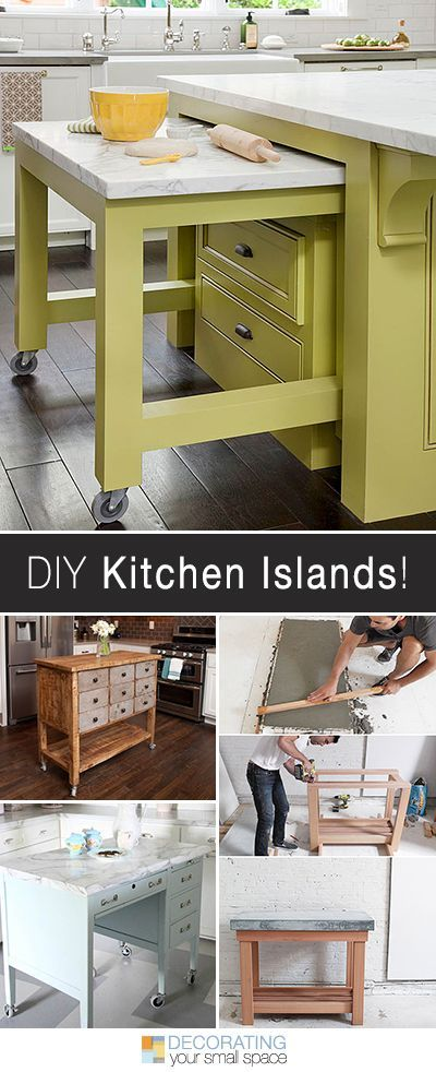 Add much-needed counter space with a DIY Kitchen Island