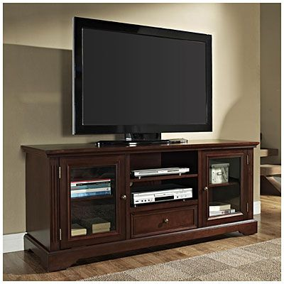 """$199.99   60"""" TV Stand with Drawer at Big Lots. // under the window in the family room. This will go under the window to the left of the fire place//"""