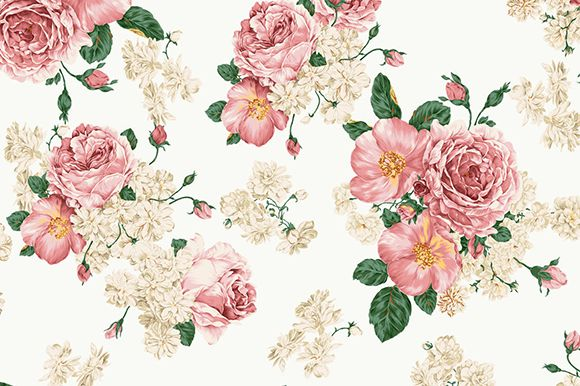 Floral Print by Whitelighter on Creative Market