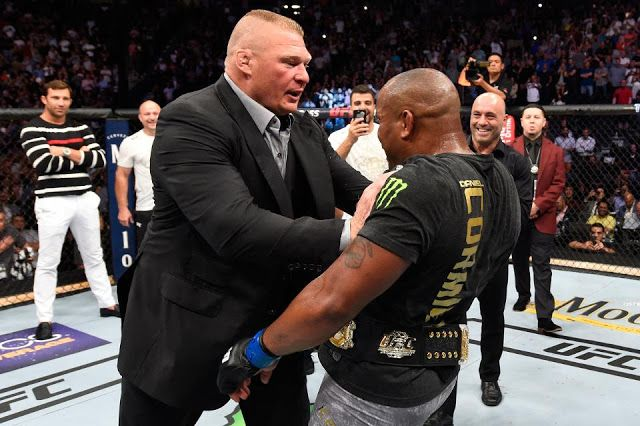 STRENGTH FIGHTER™: WWE Champion Brock Lesnar challenging UFC Champion...