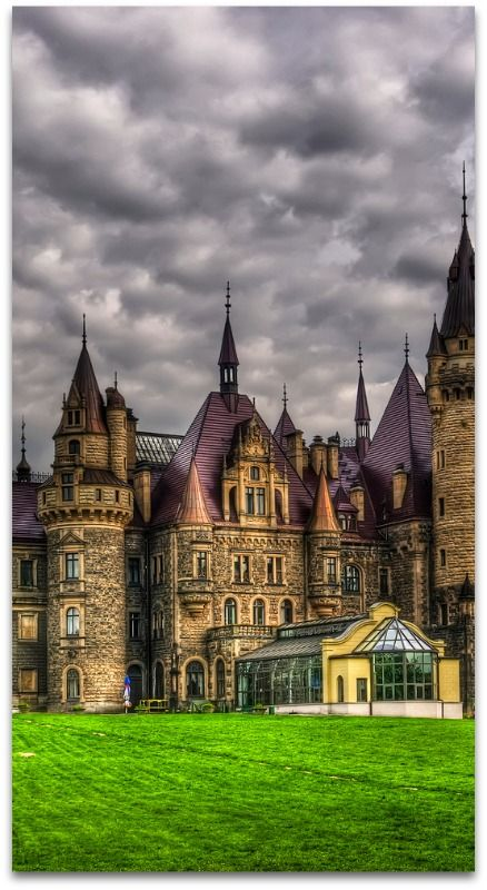 Castle in Moszna, Poland, a small village in south-west Poland, approximately 30 km (19 mi) from Opole. The castle in Moszna is one of the best known monuments in the western part of Upper Silesia.