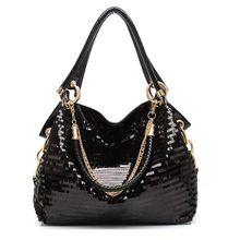 The new 2014 European and American fashion glisten women handbag PU leather women's shoulder bags messenger cross body bags(China (Mainland))