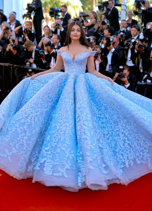 """Aishwarya Rai Bachchan attends the """"Okja"""" screening during the 70th annual Cannes Film Festival at Palais des Festivals on May 19, 2017 in Cannes, France."""