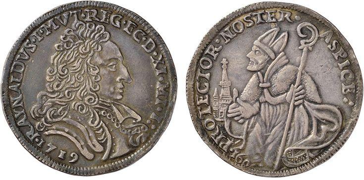 NumisBids: Nomisma Spa Auction 50, Lot 148 : MODENA Rinaldo (1706-1737) Ducato 1719 – MIR 829/1 AG (g 22,54)...