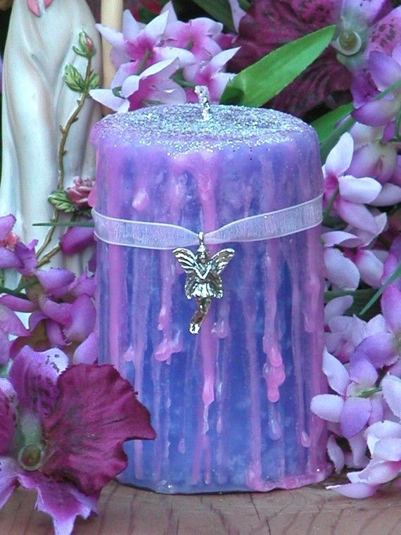 Queen of the Faeries . Witches Magick Candle . 2x3 Pillar . Faerie Magick, Divination  http://www.etsy.com/shop/WhiteMagickAlchemy