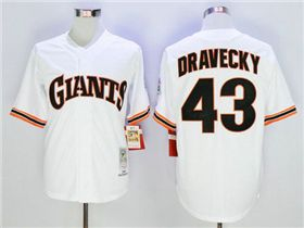 San Francisco Giants #43 Dave Dravecky Throwback White