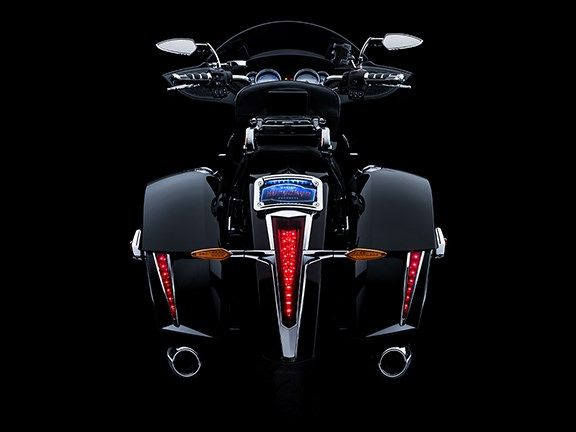 Kuryakyn Sabertooth Taillight Accents (Chrome) (Pair)- Victory Cross Country/ Tour/ Hardball (10- 14),  for 2014 Victory Cross country tour.